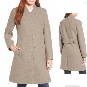 Single Breasted Melton Coat